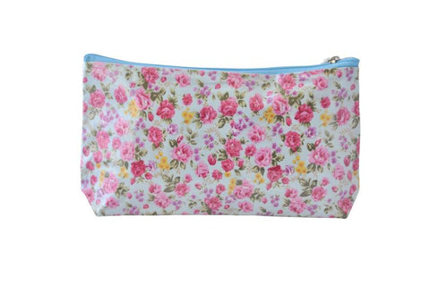 Plastic Covered Cosmetic Bags Pencil Case -  Vintage Roses
