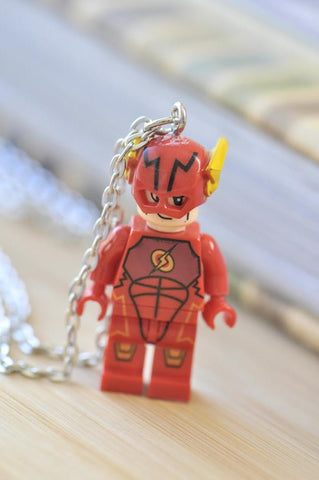 Superhero Lego Inspired Novelty Necklace - Flash