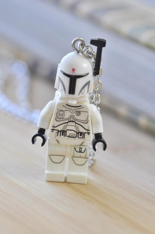 Superhero Lego Inspired Novelty Necklace - Stormtrooper