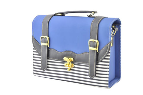 Back to School Double Strap Satchel in Royal Blue