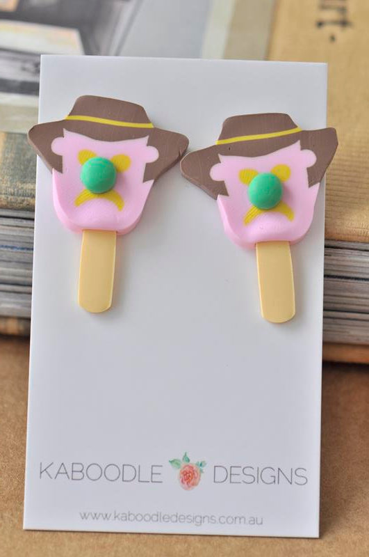 Bubble O Bill Polymer Clay Ice Cream Stud Earrings