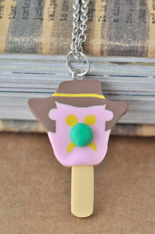 Bubble O Bill Polymer Clay Ice Cream Necklace