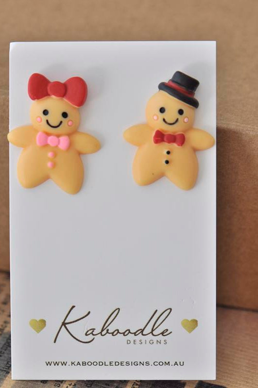 Miniature Gingerbread Stud Earrings