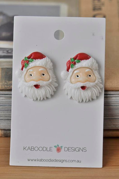 Novelty Fun Christmas Santa Claus Resin Stud Earrings