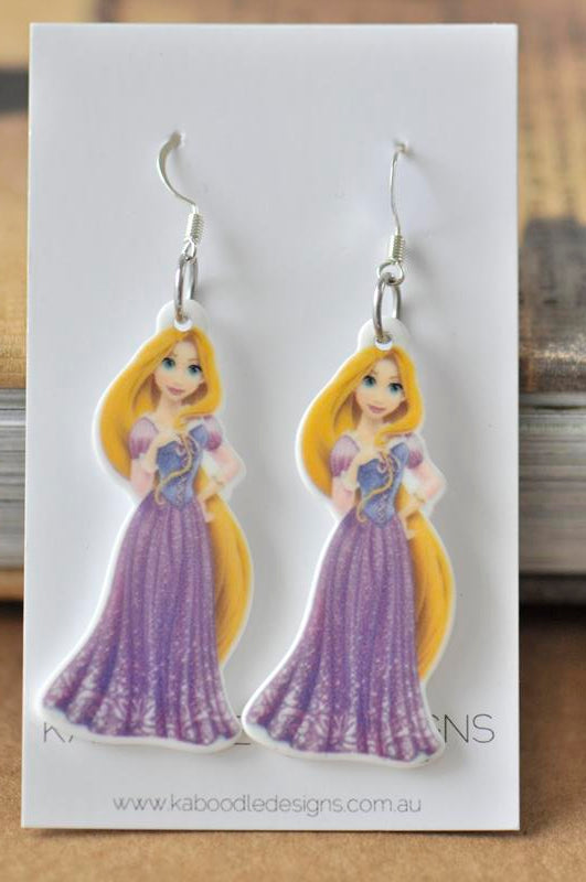 Rapunzel Princess Acrylic Dangle Earrings