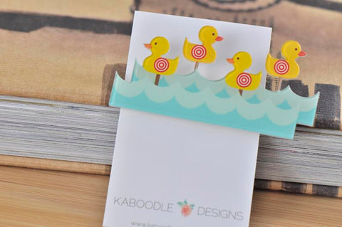 Carnival Shooting Duck Game - Acrylic Perspex Brooch