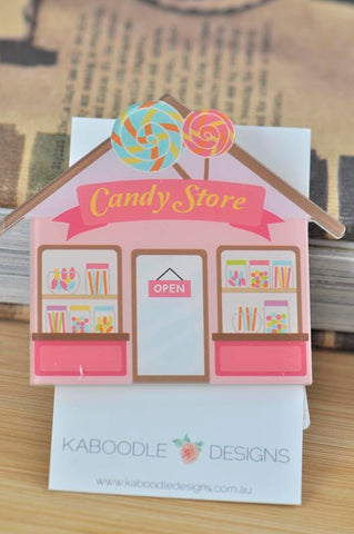 Cute Candy Shop Acrylic Perspex Brooch
