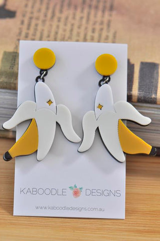 Acrylic Perspex Banana Dangle Earrings