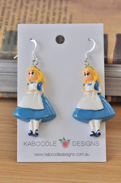 Alice In Wonderland Resin Drop Dangle Earrings