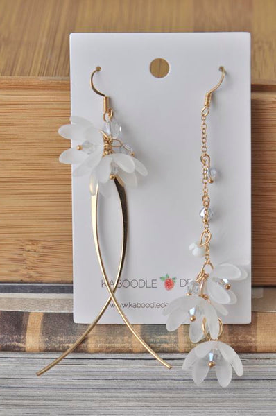Statement Flower Dangle Drop Earrings