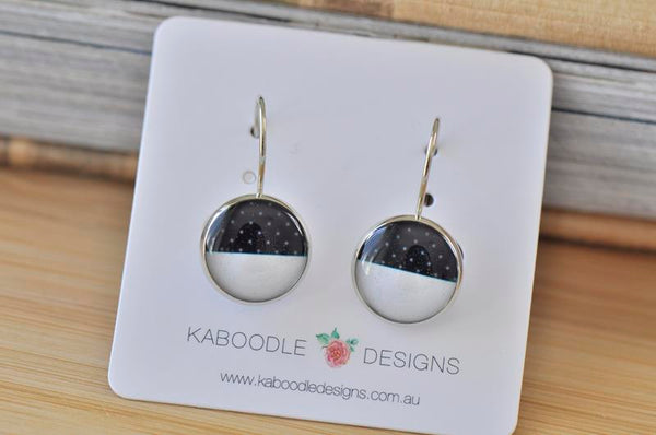 Handmade Round Geometric Shapes Dangle Earrings - CDE414