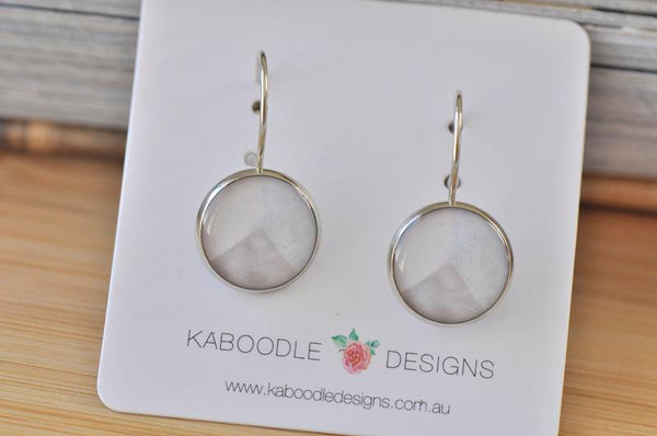 Handmade Round Geometric Shapes Dangle Earrings - CDE429