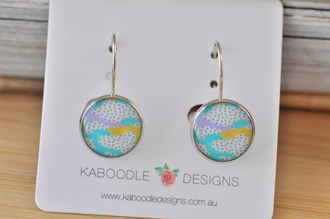 Handmade Round Artwork Dangle Earrings - CDE454