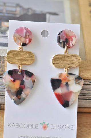 Acrylic Lucite Acetate Geometric Stud Drop Dangle Earrings