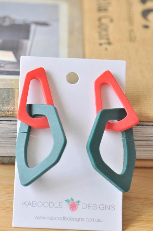 Acrylic Perspex Geometric Dangle Drop Earrings