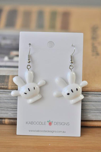 Mickey and Minnie Mouse Hands Gloves Drop Earrings
