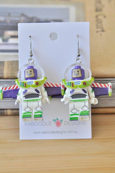 Buzz Lightyear Toy Story Inspired Novelty Fun Drop Dangle Earrings