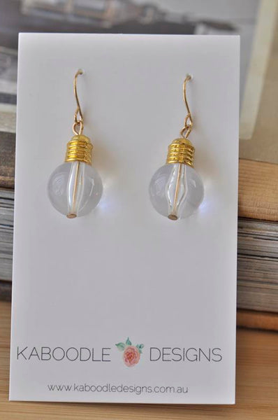 Lightbulb Novelty Fun Science Physics Dangle Earrings