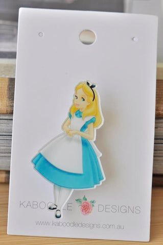 Acrylic Alice In Wonderland Pin Brooch
