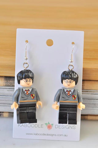 A Harry Potter Inspired Lego Drop Dangle Earrings