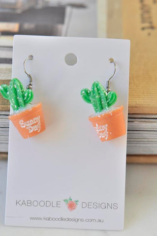 Cactus Drop Dangle Earrings
