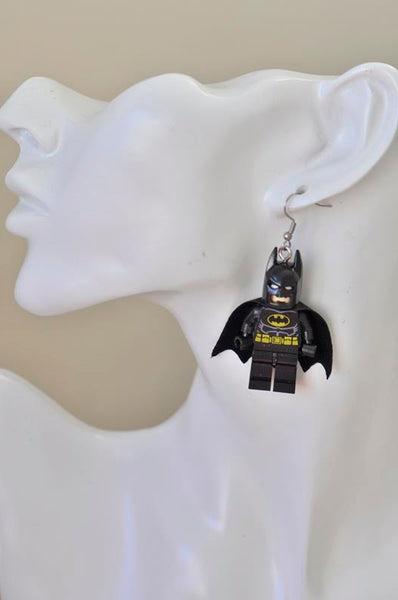 Batman Superhero Inspired Drop Dangle Earrings