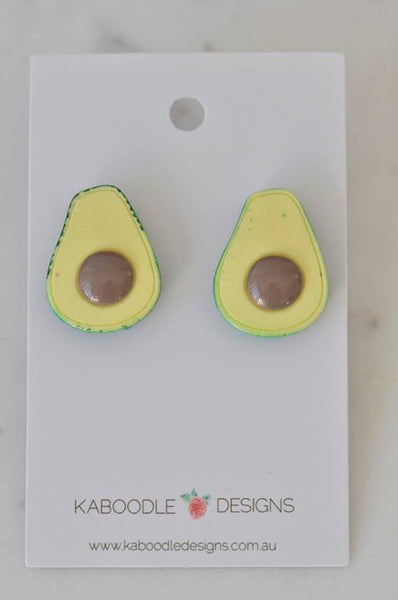 Miniature Food Avocado Stud Earrings
