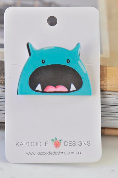 Acrylic Laser Cut Monster Pin Brooch