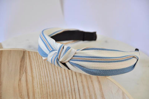 Fabric Knotted Headband - Stripes