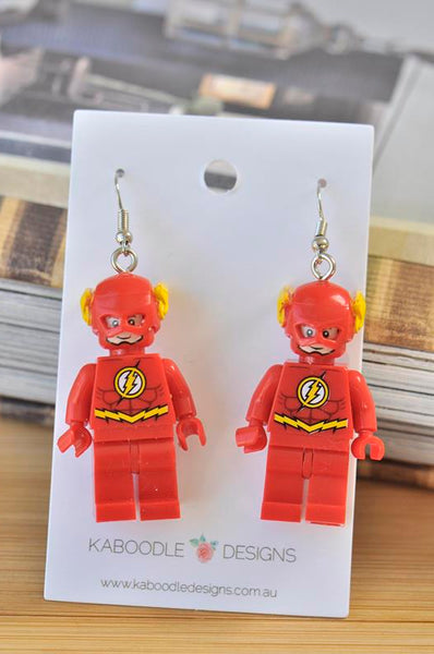 Flash Superhero Inspired Drop Dangle Earrings
