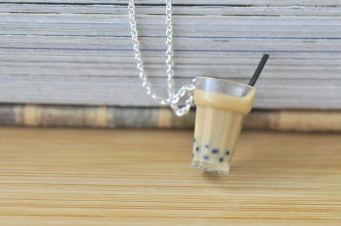 Boba Pearl Bubble Milk Tea Resin Necklace