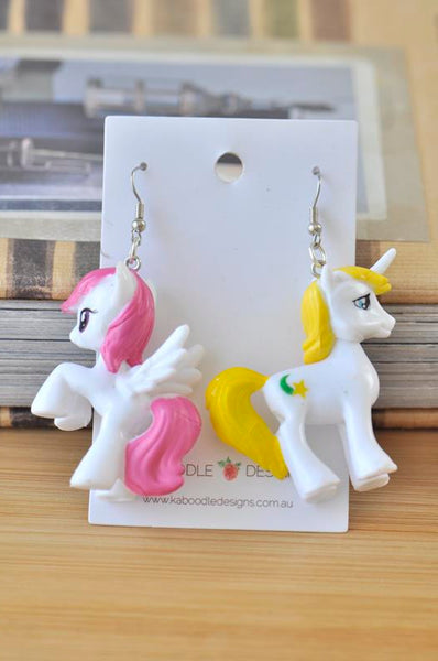 My Little Pony Resin Drop Dangle Earrings - White