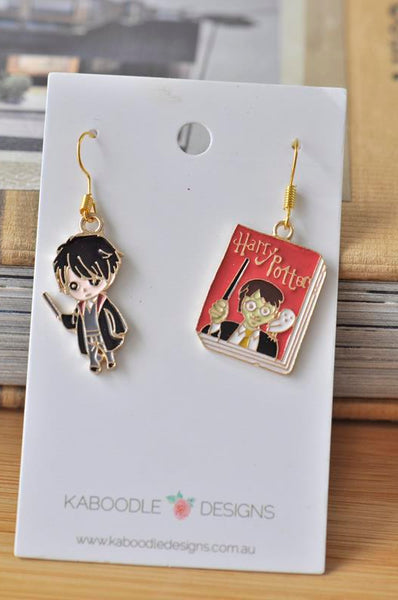 Harry Potter Inspired Wizard Novelty Fun Drop Dangle Earrings