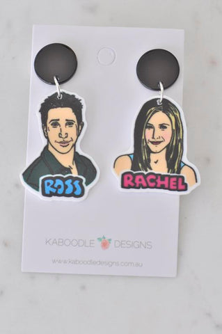 A Acrylic Friends Ross and Rachel Dangle Earrings