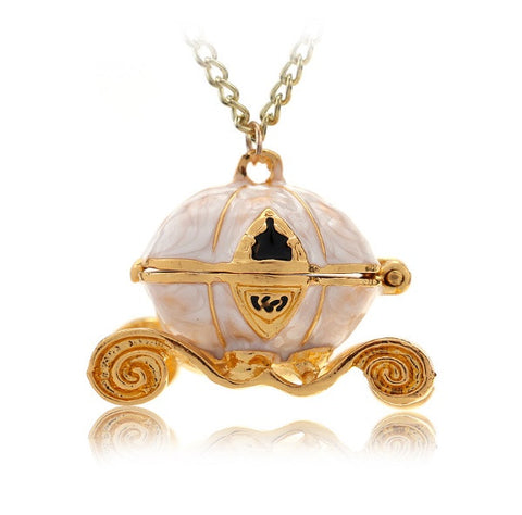 Cinderella Carriage Locket Necklace