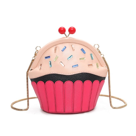 Cupcake Purse Novelty Crossbody Handbag