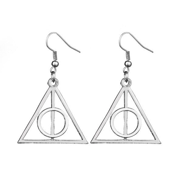Harry Potter Inspired Deathly Hallows Dangle Earrings