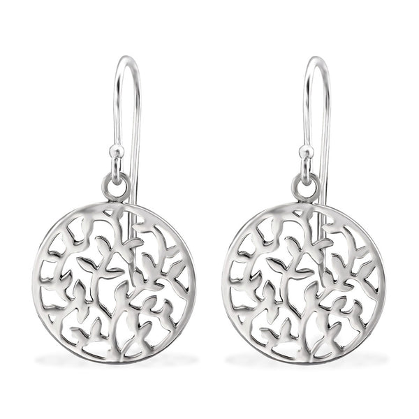 Filigree 925 Sterling Silver Dangle Earrings