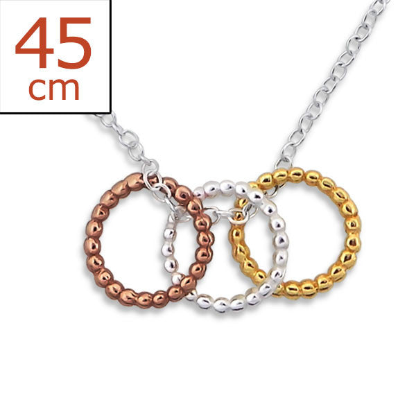 Rope Rings 925 Sterling Silver Necklace