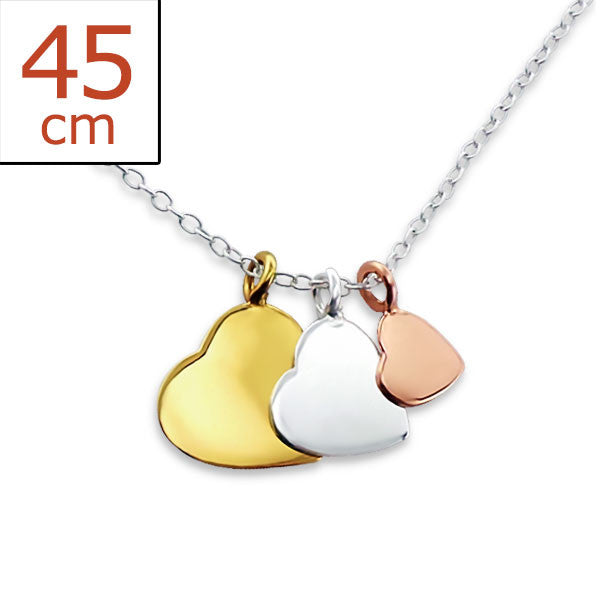 Dainty Hearts 925 Sterling Silver Necklace