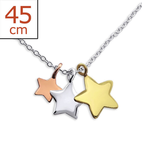Dainty Stars 925 Sterling Silver Necklace