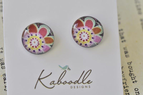Handmade Artwork Stud Earrings - ER152