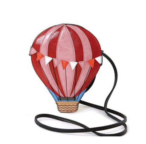 Hot Air Balloon Novelty Crossbody Handbag