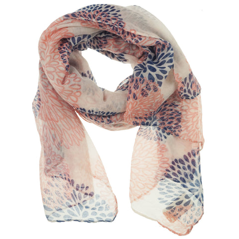 Fashion Scarf - Fireworks in Pink and Blue