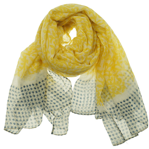 Fashion Scarf - Filigree in Yellow