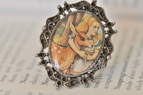 Alice In Wonderland and Deer Ring