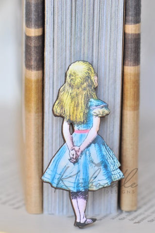 Alice Wooden Laser Cut Brooch