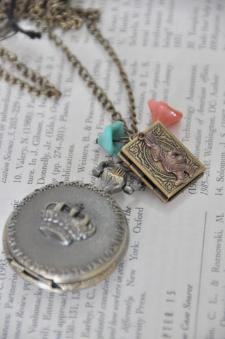 Alice In Wonderland Party  - Pocket Watch Necklace