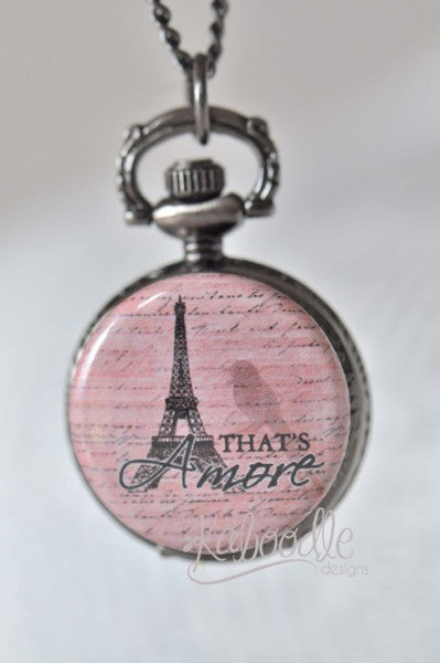 Amore Paris - Pocket Watch Necklace