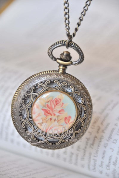 Aroma Therapy - Pocket Watch Necklace